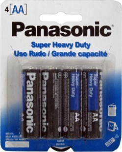 Panasonic Heavy Duty Batteries - AA 4pk