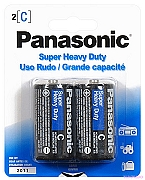 Panasonic Heavy Duty Batteries - C Size 2pk