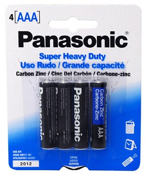 Panasonic Heavy Duty Batteries - AAA 4pk
